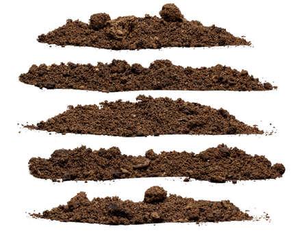 Ustawić stos gleby samodzielnie na białym tle