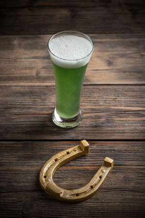 alehouse: St Patricks day concept on wooden board