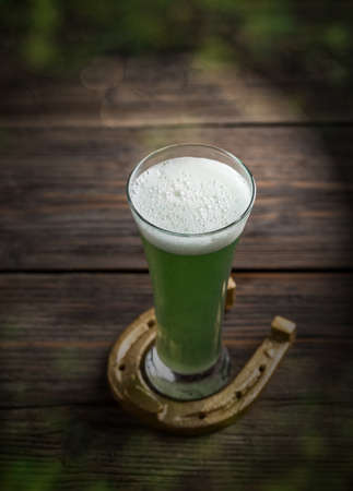alehouse: Cold green beer for St. Patricks day