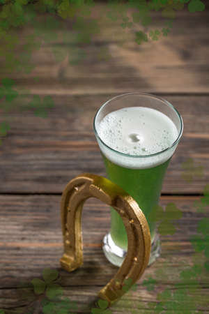 alehouse: Cold green beer for st.Patricks day holiday celebration