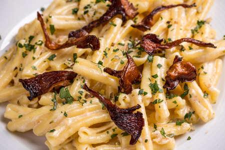 camembert: Casarecce pasta with camembert cheese