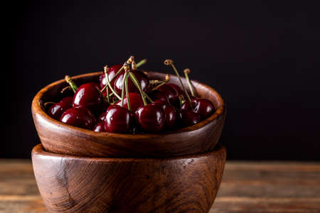 sour cherry: Fresh sour cherry in a bowl