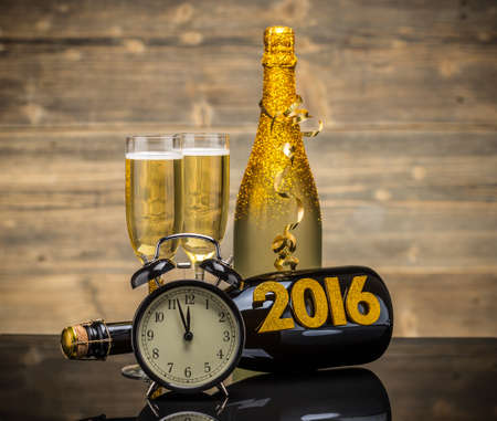 2016 New Years Eve feest achtergrond Stockfoto