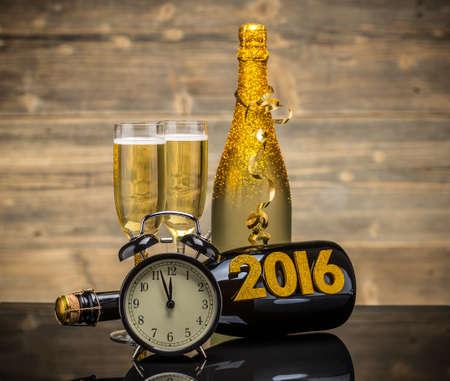 2016 Yeni Yıl kutlama arka plan