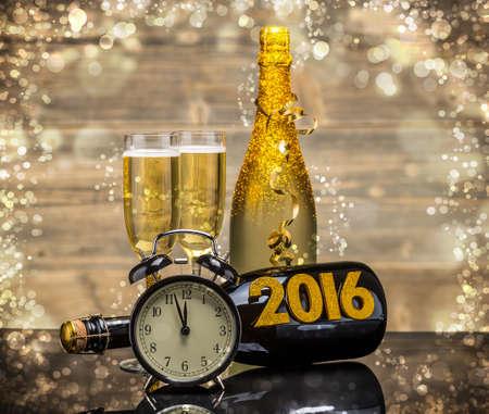 2016 Véspera de Ano Novo celebração fundo