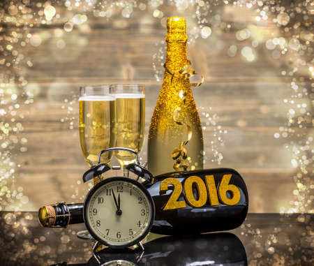 2016 Yeni Y?l kutlama arka plan Stok Fotoğraf