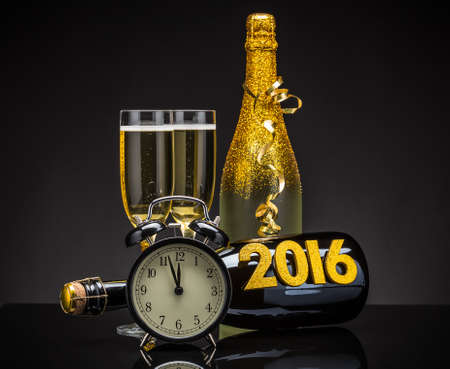 2016 New Years Eve feest begrip Stockfoto