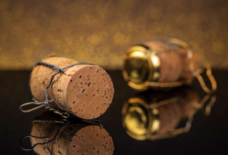 champagne cork: Champagne cork with metal wire