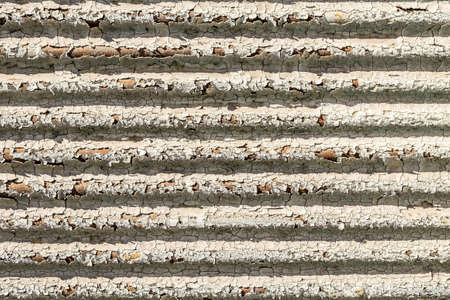 corrode: Texture of old green peeling paint on metal wall