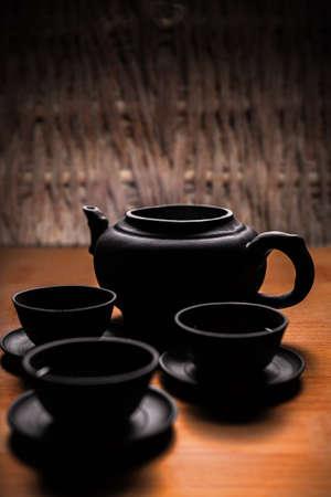 Teapot and teacups foto royalty free, immagini, immagini e archivi ...