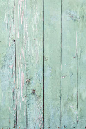 board panel: Background texture of old green painted wooden boards fence