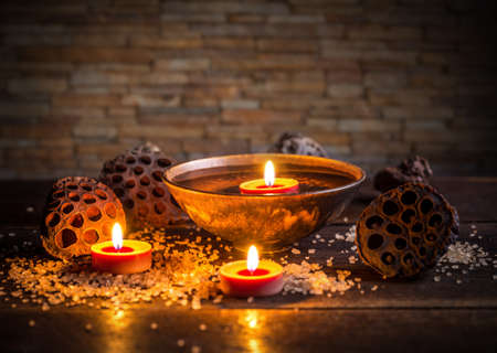 aromatic: Spa concept with aromatic floating candles