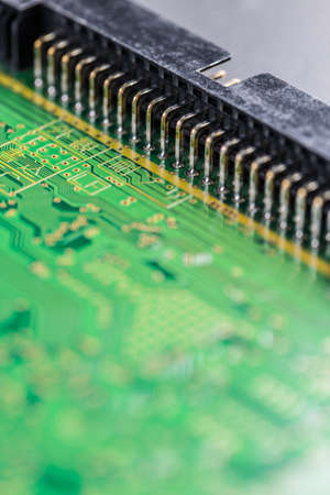 printed circuit: Printed circuit board, electronics computer part chip