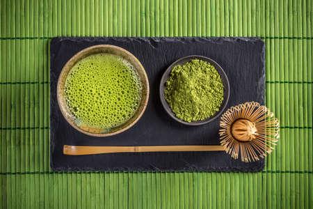 Japanische traditionelle Tee-Set mit Matcha grüner Tee