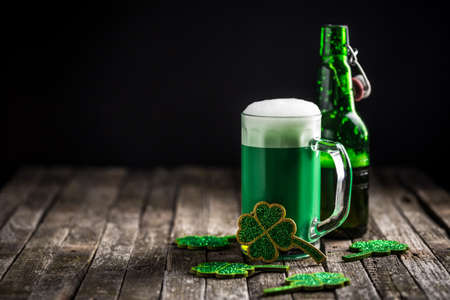 shamrock: St. Patricks day holiday celebration, lucky concept