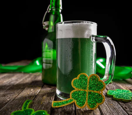 green beer: Green beer for St Patricks Day Stock Photo
