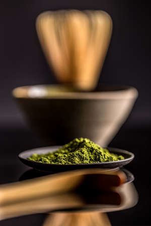 japanese cookery: Matcha powder made from ground green tea