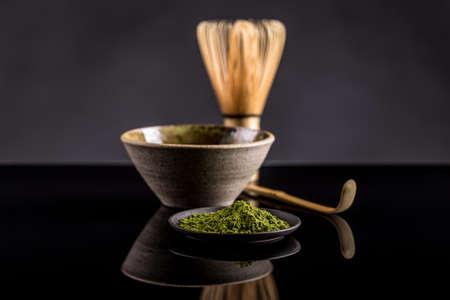 ajuste de la ceremonia del té japonesa, el té verde Matcha