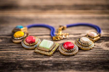pietre preziose: Necklace made of colorful semi precious stones