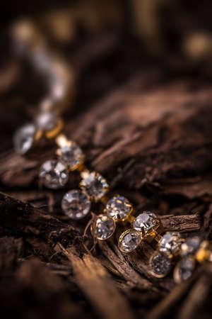 rhinestone: Goldplated feminine necklace with rhinestone