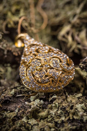 small stones: Goldplated pendant with small stones