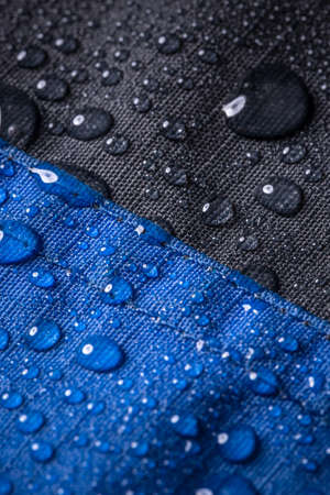 coating: Waterproof coating background with water drops Stock Photo