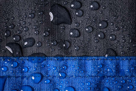 waterproof: Drops of water on waterproof cloth