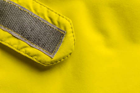 velcro: Velcro fastener on coat, copy space