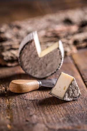 segmento: Segmento de brie corte de un queso brie entero