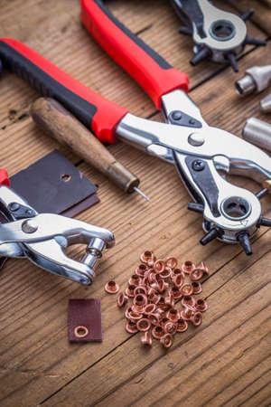 eyelet: Eyelet fabric plier punch tool kit leather hole maker