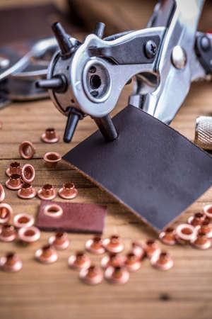 rivets: Metal handheld revolving plier and rivets