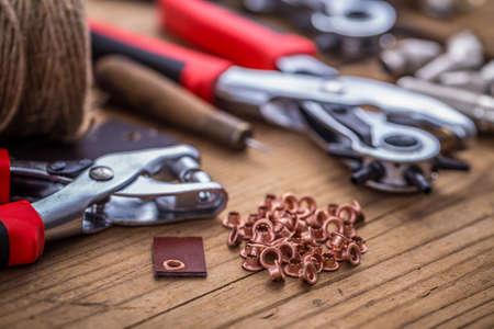 eyelet: Eyelet and rivet setting, punch tools