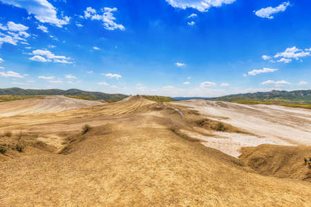 volcano slope: Slope of the Mud Volcano in Paclele Mici, Romania