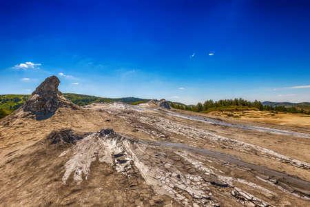 muddy: Active Muddy Volcanoes, Buzau,Romania