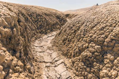 sequias: Erosi�n de los suelos de fondo, la temporada de sequ�a Foto de archivo