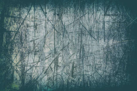 scratches: Old green metal background with scratches