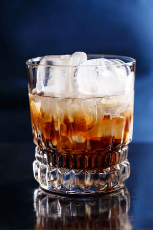 white russian: White russian cocktail on dark background