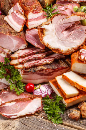 Smoked pork meat products composition