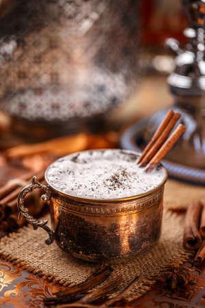 chai: Indian spicy chai tea latte