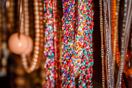 knick: Plastic trinkets jewelry, colorful necklaces