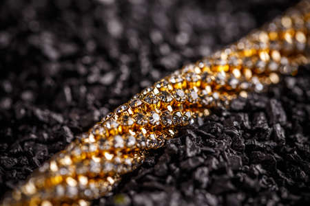 Goldplated necklace with small glass stones