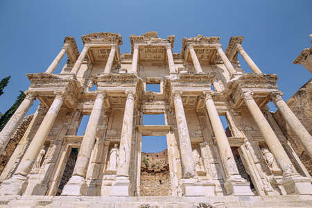 Library of Celsus in the ancient city of Ephesus, Turkey