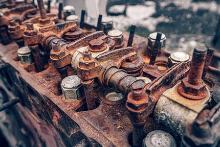Main part of rusty engine, close up Reklamní fotografie