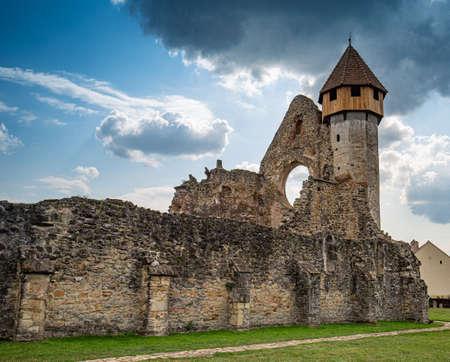 Ruins of medieval Cistercian abbey in Transylvania, Romania. Carta, Sibiu.