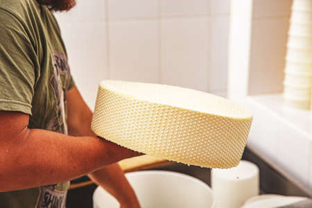 Making cheese in a traditional way