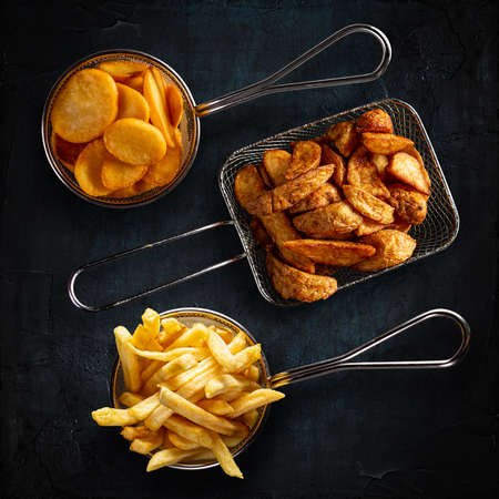 Different types of fried potatoes