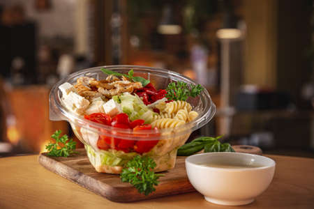 Chicken salad with pasta