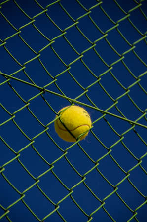 Ball in Fence Stock Photo - 15955357