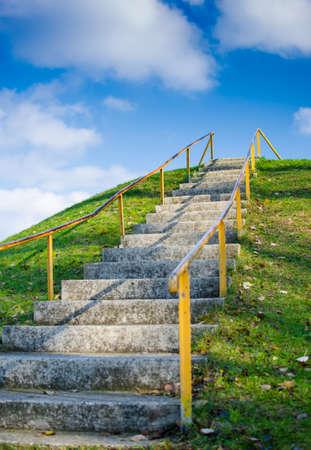 escalera: Escaleras al éxito Foto de archivo