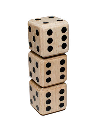 stack of dice Stock Photo